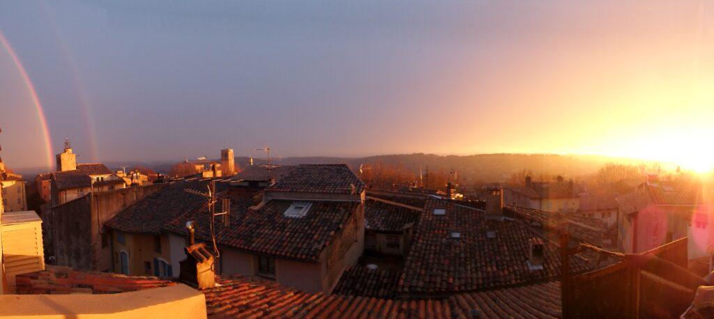sunset lorgues-var-paca-provence